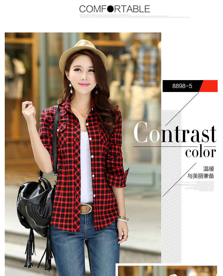 19 Brand New Winter Warm Women Velvet Thicker Jacket Plaid Shirt Style Coat Female College Style Casual Jacket Outerwear 11