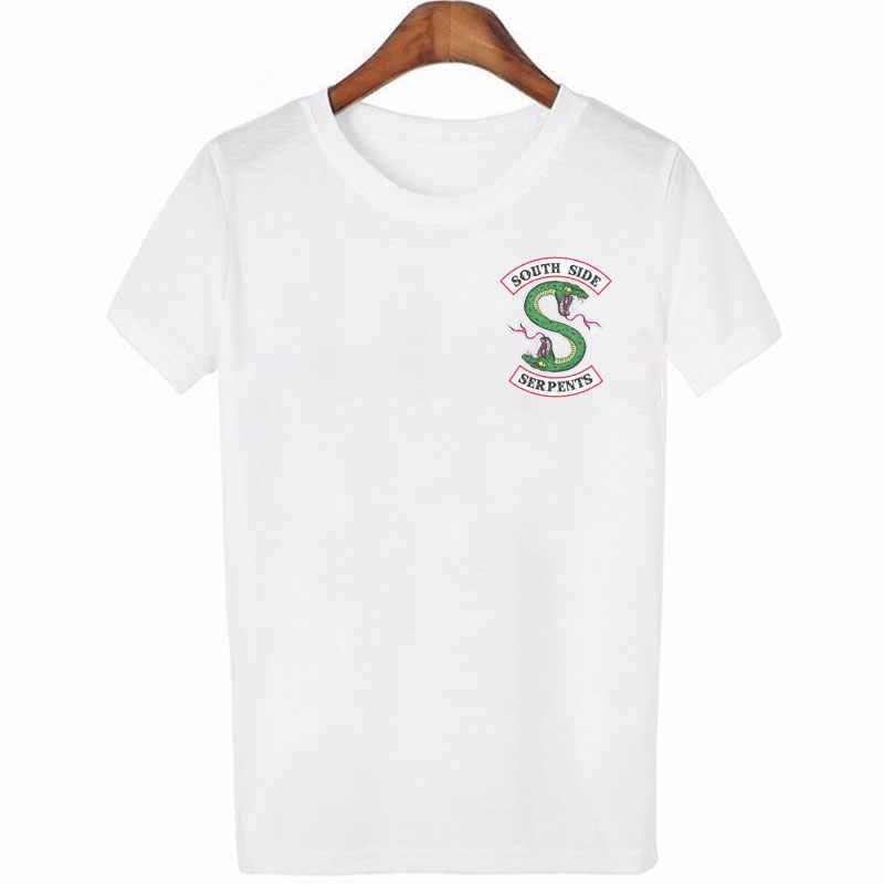 Riverdale Summer Women Black T-shirt Riverdale T Shirt Plus Size South Side Serpents Tshirt Jughead Fashion Vintage Harajuku Top