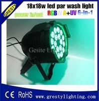 2pcs/lot Cheap Price 18pcs 18W Led Par Light DMX512 Slim RGB Led Par Can American DJ Supply Quad Scan LED Lighting