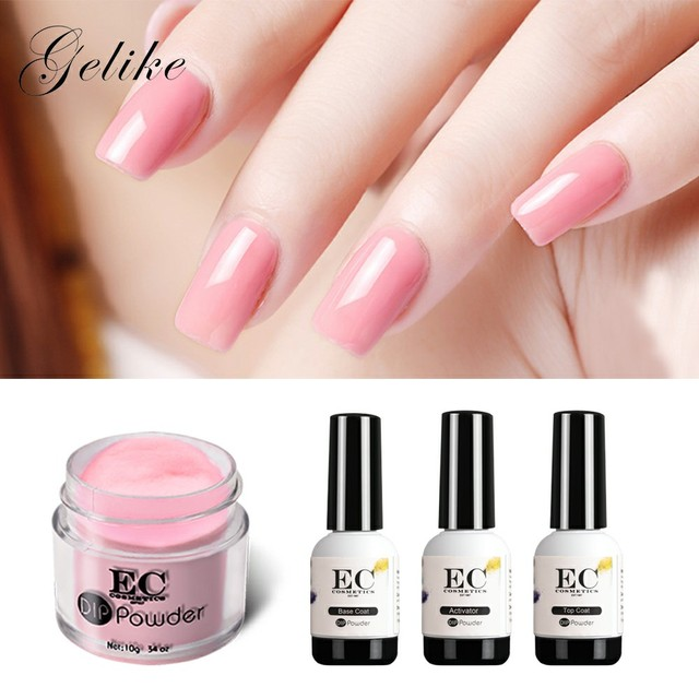 Acrylic Nails Dip Powder Organic Starter Kit Gel Varnish No Uv Light ...