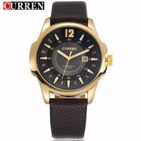 CURREN Luxury Brand Mens Watches Fashion Quartz Watch Waterproof Leather Men Wristwatch Relogio Masculino Sport Male