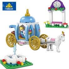 KAZI New Blocks Assembly Model Blocks Cinderella's Dream Girl Series Building Blocks Playmobil Brick For Baby Toys For Children