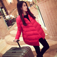 Winter New Women s Cotton Clothes Korean Thin Loose Wool European and American Mosaic Warm Coat