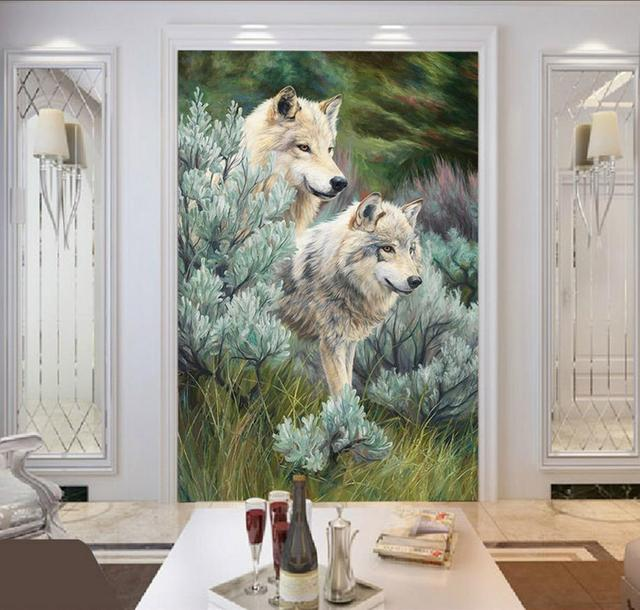 Benutzerdefinierte D Foto Tapete Vlies D Wolf Tapete Wandbild Wohnzimmer Papel De Parede