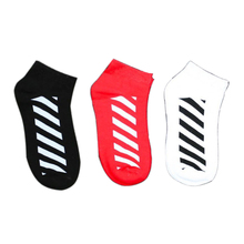 1 Pair New Kawaii Cute Socks Men Red Dairy Zebra Pattern Soft Breathable Cotton Socks Ankle-High Casual Comfy Socks Fashion St pair of stripe pattern cotton blend ankle socks