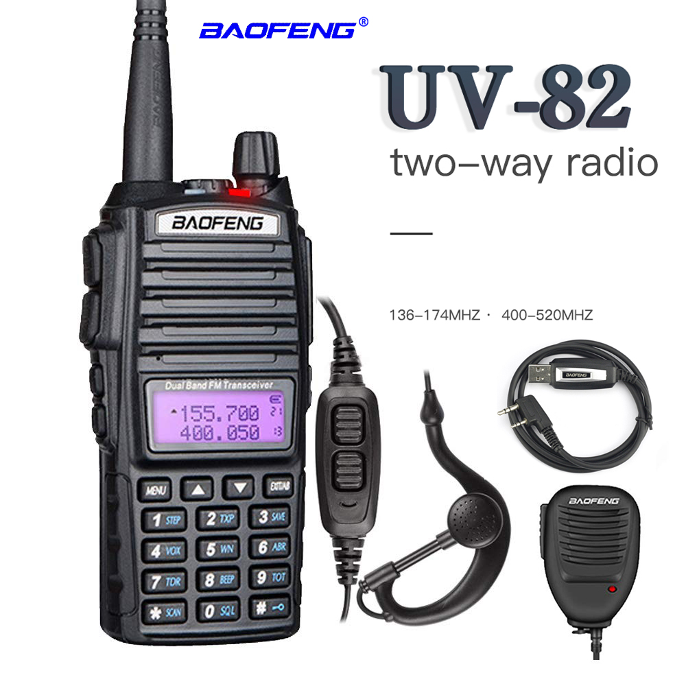 2019 BaoFeng UV-82 Walkie Talkie Dual-Band 136-174/400-520 MHz FM Ham Two Way Radio Vhf Uhf , Hunting Transceiver, Walkie Talkie(China)
