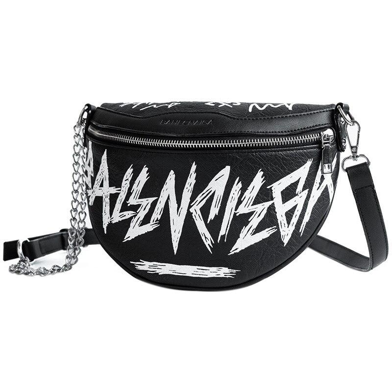 Fashion Female Waist Bag Ladies Women'S Waist Bag Chains Belt Messenger Bags Handbags Women Shoulder Sac