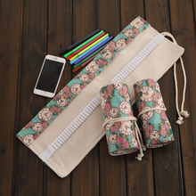 36/48/72 Holes Rose clock  Pencil Case Pen Pouch Painting Drawing Storage pencil bag  Vintage Stationery School Supply  2.16