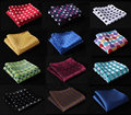 DE Polka Dot Silk Satin Pocket Square Hanky Jacquard Woven Classic Wedding Party Handkerchief