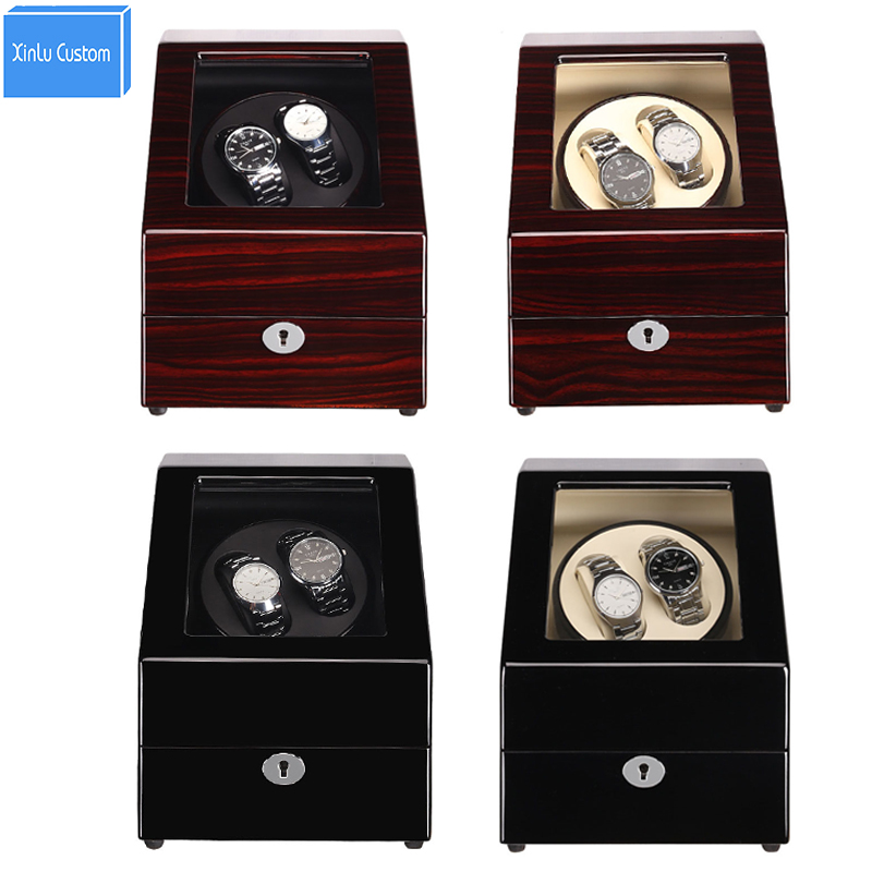 New Luxury Wooden Watch Winders 2+3 Grids Automatic Watches Box Winders Japan Mabuchi Motor Rotate Case Global Use Gift Package watch winders case cabinet grids rotate watch motor machine box gift world use safe plug watches watch winders drop shipping new