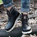 ZNPNXN Otoño Botines Para Hombres Zapatos de Cuero Partido de la Vaca Botas de Los Hombres Botas Militares Botas Zapatos Hombre 2016