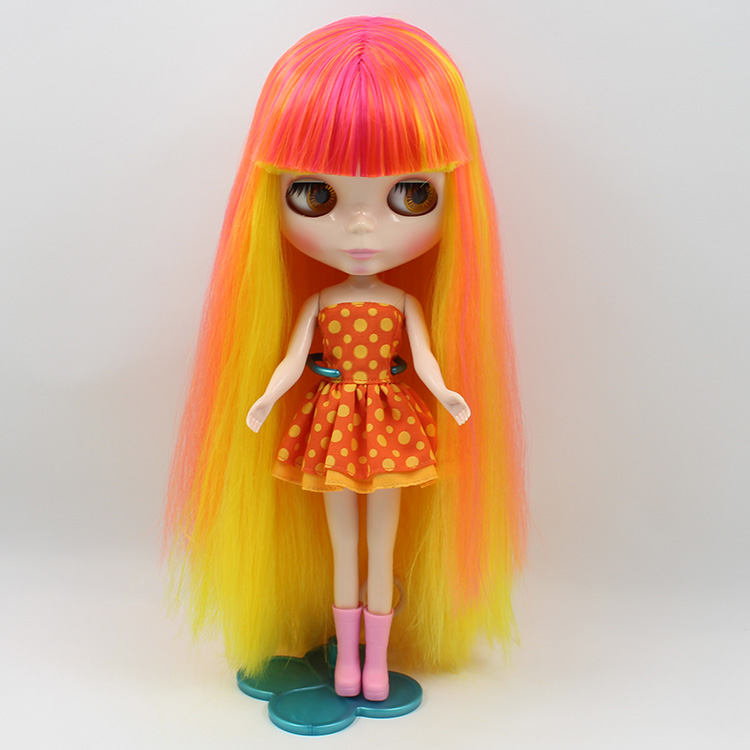 1/6 Bjd doll Nude Blyth dolls multicolor long hair with bangs doll DIY bjd dolls for sale uncle 1 3 1 4 1 6 doll accessories for bjd sd bjd eyelashes for doll 1 pair tx 03