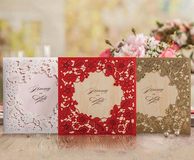 50 Sets WishmadeLaser Geschnitten Hochzeitseinladungen Karten ...