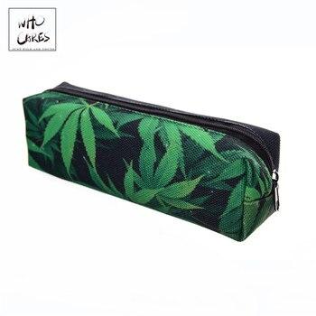 Bolsa de cosméticos espacio weed green estuche de lápices de impresión 3D...