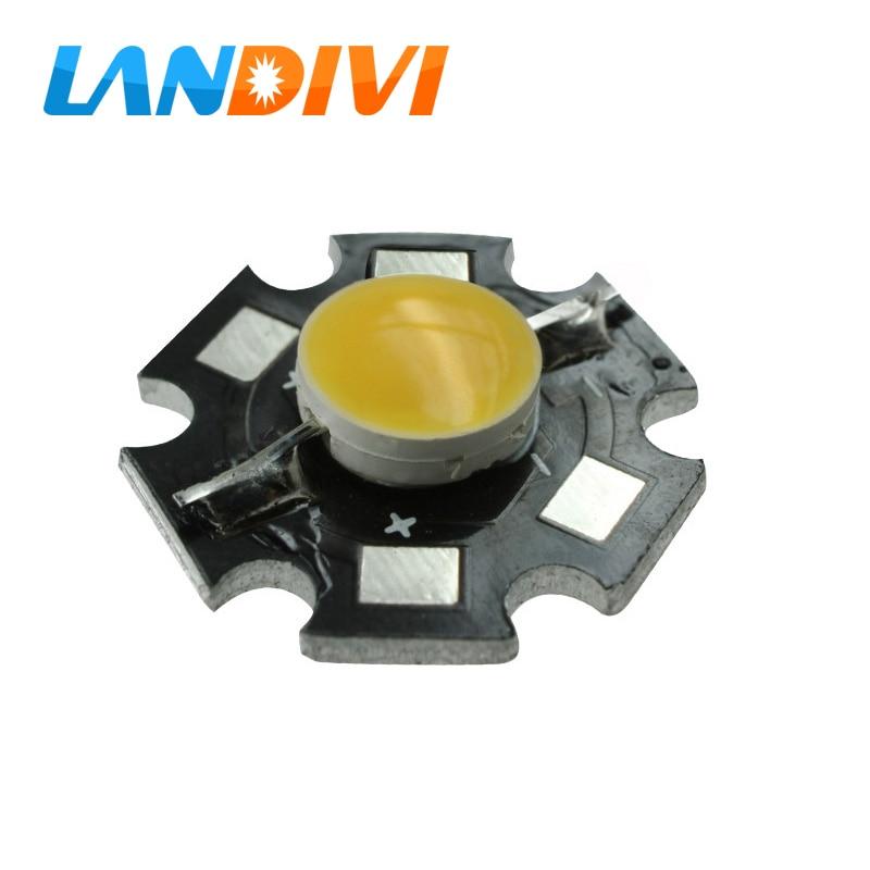 3w led diode 10pcs cob led chip white emitting diodes DC9-12V with led PCB board high power led lamp DC 12V for COB spot light