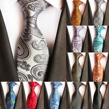 New Design Fashion Mens Tie Luxury Floral Paisley Neckties Hombre 8 cm Gravata Classic Business Casual Wedding Party
