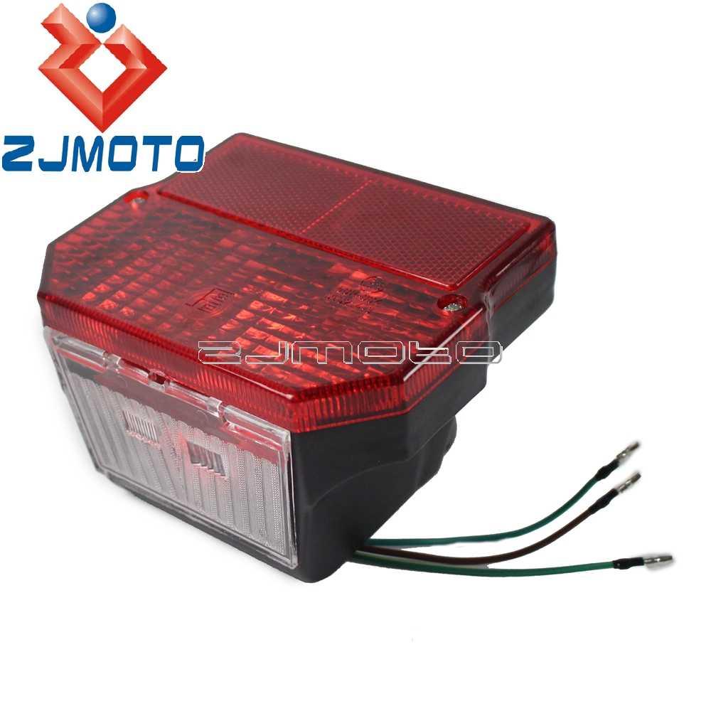 Xe máy Tail Light Cho Susuki TS125 TS150 TS250 MZ 150 250 251 301 Simson SR50 S51 LED Phía Sau Tail Light đỏ