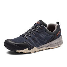BACKCAMEL Spring Autumn Men's Shoes Flat Casual Shoes Wear-resistant Non-slip Waterproof Outdoor Leather Vulcanize Shoes Leisure