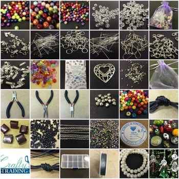 Large Jewellery Making Starter Kit 1000+ Beads Tools Findings Storage Box - DISCOUNT ITEM  0% OFF All Category