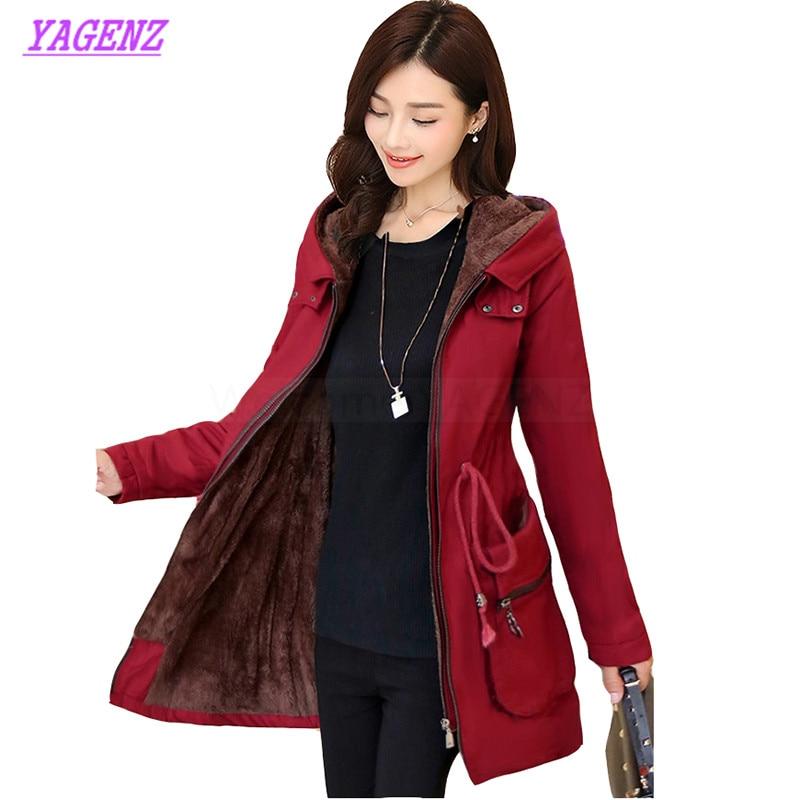 Plus size S 3XL Winter Warm Down cotton jacket Women Slim long cotton outerwear Young Women