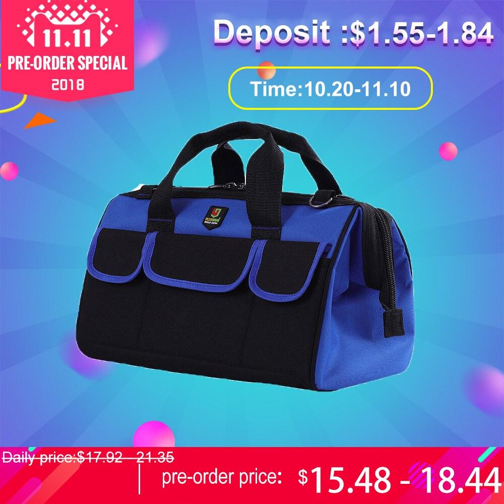 12302a63f0 Multifunction Tool Bag Large Capacity Professional Electrician Repair Tools  Bag 14 17 19 inch