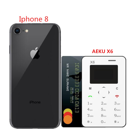 AEKU X6 Original New Arrival Ultra Mini Cell Card Phone Student Unlocked Mini Mobile Phone Pocket Multi Language PK AEKU C6