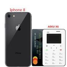 Aeku X6 Originele Nieuwe Collectie Ultra Mini Mobiele Kaart Telefoon Student Ontgrendeld Mini Mobiele Telefoon Pocket Multi Taal Pk Aeku c6