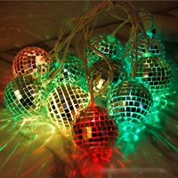 LED Lighting Slow Flash Disco Mirror Balls Battery String Lights Christmas Holiday Party Fairy Light Garden Decorative Lamps