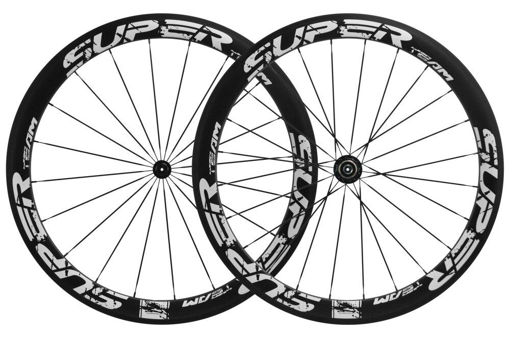 Superteam 700c 50mm carbone pneu roues basalte frein matSuperteam 700c 50mm carbone pneu roues basalte frein mat