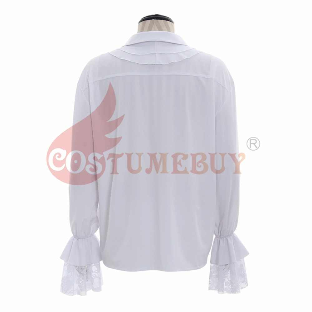 368ac706572c5a ... Costumebuy Medieval Shirt Vintage Men White Renaissance Scottish Poet  Vampire Colonial Jabot Blouse Long Sleeve Pirate ...
