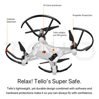 DJI Tello Drone & Bag & GameSir T1d & Cover 720P HD Transmission Camera APP Remote Control Folding Toy FPV RC Quadcopter Drone 8