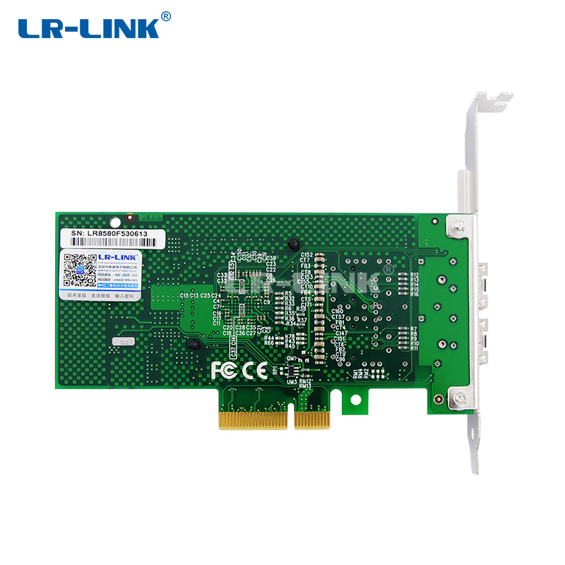 Image 3 - LR LINK 9702HF 2SFP Dual Port Gigabit Ethernet Card Fiber Optical Lan Card PCI Express x1 Network Adapter Intel 82580 PC Nic-in Networking Storage from Computer & Office
