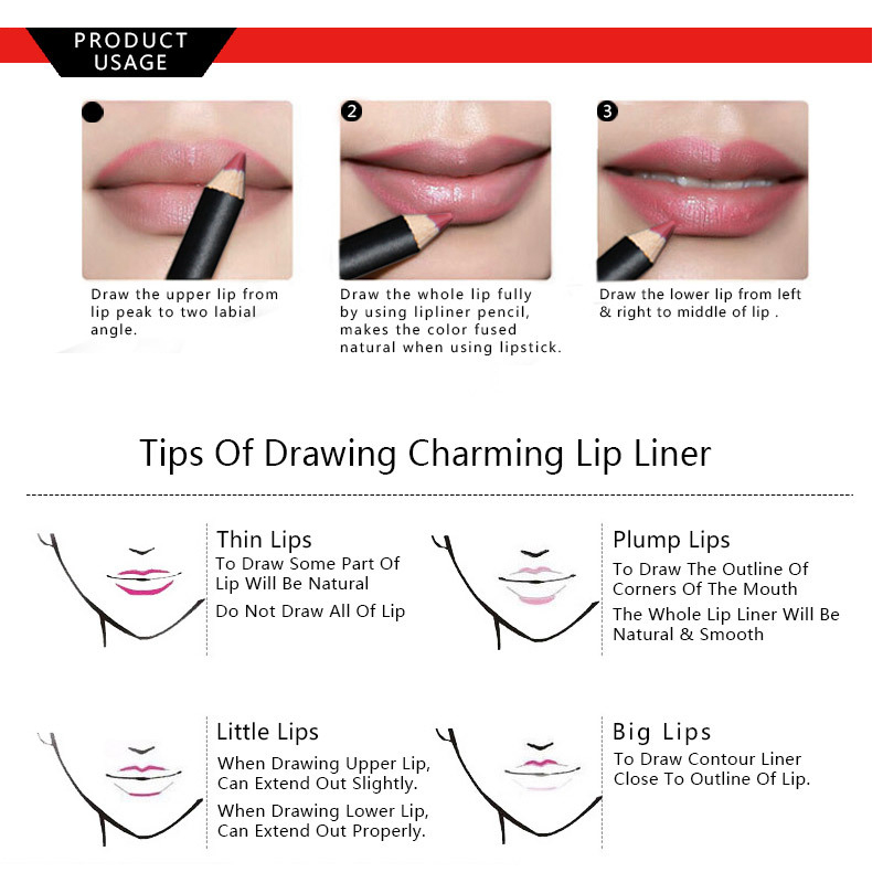 UCANBE 12pcs/Set Multi-Color Ultra Matte Lip Liner Pencil Rouge Waterproof Wooden Lip Pen Makeup Lasting Velvet Shape Lips Liner 14
