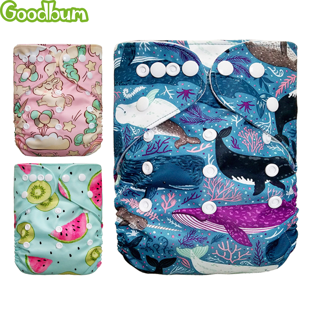 Baby Washable Reusable Real Cloth Pocket Nappy Diaper Cover Wrap Suits Birth To Potty One Size Nappy Diaper Cover Wrap Inserts