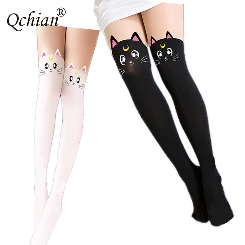 Sailor Moon Black White Cat Slim Stockings Safety Pants Very Beautiful Socks Gifts For Girls