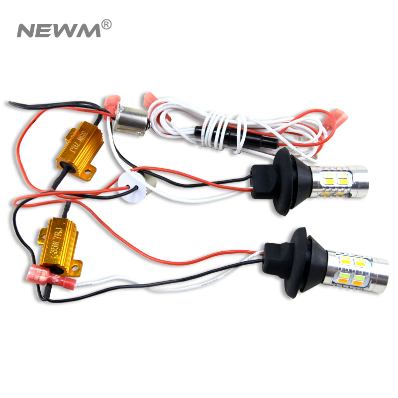 2x Dual Color 20SMD 5730 White/Amber S25 1156 BA15S LED Bulbs For Front Turning Lights Signal DRL Error Free Canbus carprie super drop ship new 2 x canbus error free white t10 5 smd 5050 w5w 194 16 interior led bulbs mar713