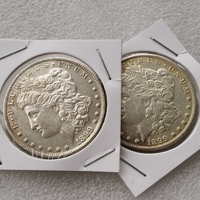 US head-to-head 1899 Morgan Dollar Two face Copy Coin - Free Shipping