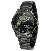 Winner Watch Women Skeleton Automatic Mechanical Watch Black Vintage Watchskeleton Woman Watch Womens Watch Top Brand