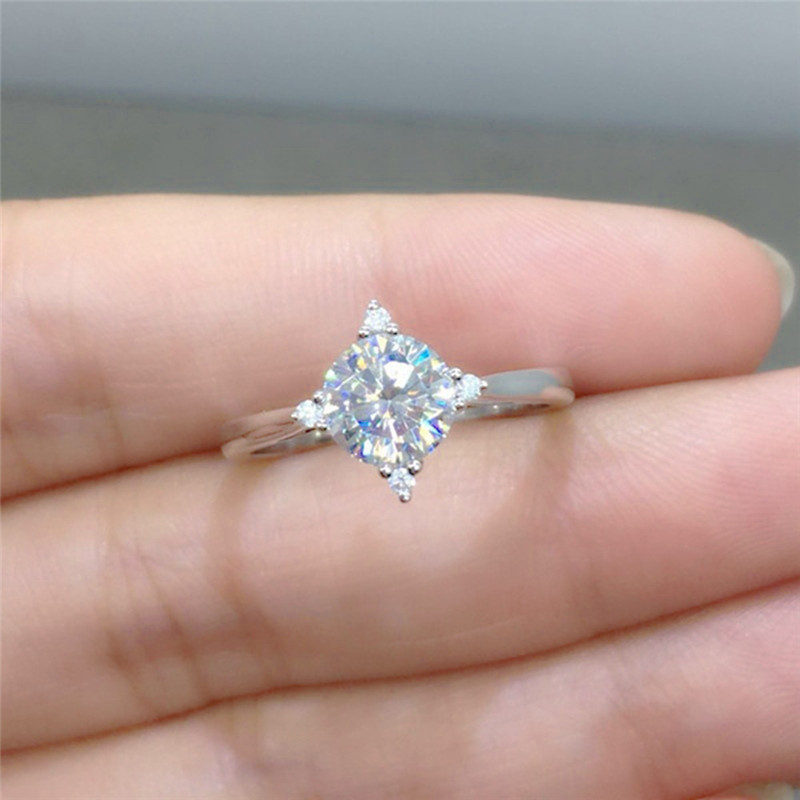 Romad Dainty Engagement Ring For Women Silver Wedding Ring Aaa Cz Crystal Finger Ring Fashion Simple Jewelry R4 Engagement Rings Jewelry & Accessories