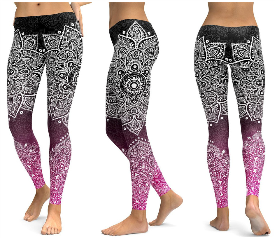 Print Yoga Pants Women Unique Fitness Leggings Workout Sports Running Leggings Sexy Push Up Gym Wear Elastic Slim Pants 20