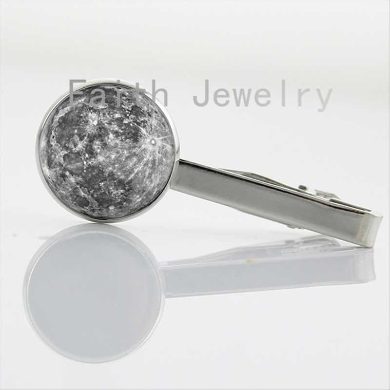 Vintage Planet pture tie clips trendy space galaxy universe jewelry solar system Mercury art Necktie Bar Clasp Clamp Pin NS147