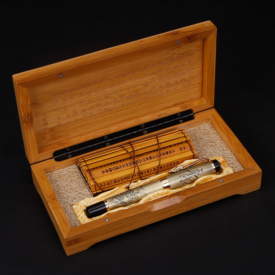 Jinhao Ancient Grey Chinese Oriental Dragon Fountain Pen with Original Box Free Shipping jinhao ancient chinese oriental dragon fountain pen free shipping