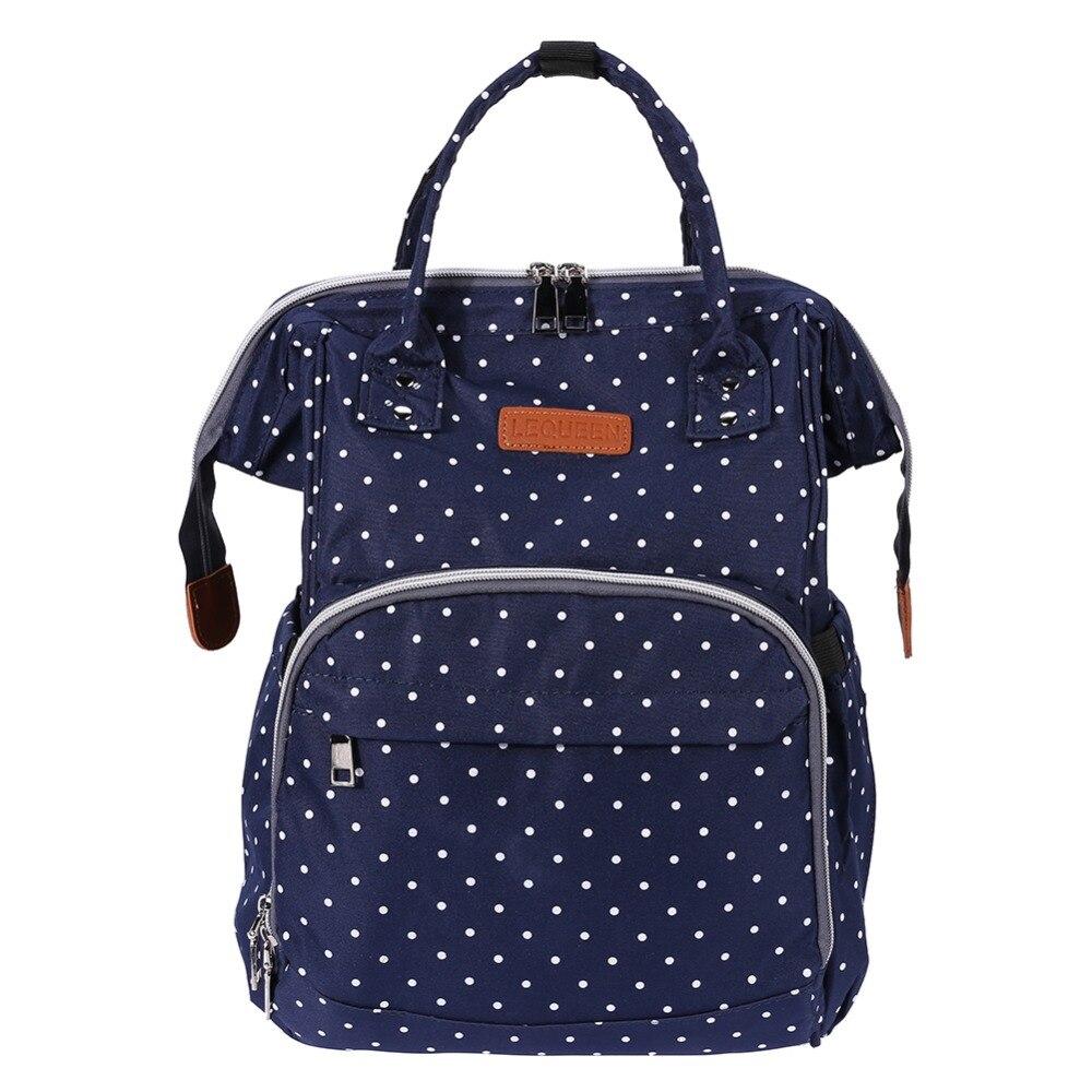 Polka Dot Newborn Diaper Bag Waterproof Mummy Maternity Nappy Bag Mom Travel Backpack Handbag Waterproof Diaper Bags Nursing Bag