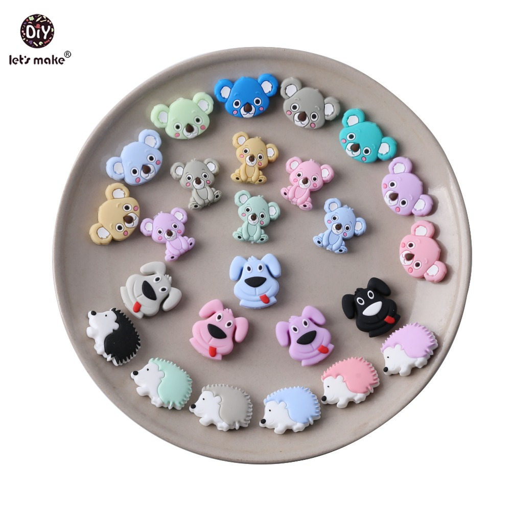 Let 39 s Make 5pcs Silicone Koala Teething Beads BPA Free Food Grade Silicone Chew Toys Handmade DIY Crafts Jewelry Baby Teether in Baby Teethers from Mother amp Kids