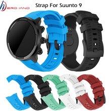 سيليكون استبدال التبعي حزام (استيك) ساعة شريط للرسغ سوار ل Suunto 9 و Suunto المتقشف الرياضة المعصم HR بارو Smartwatch