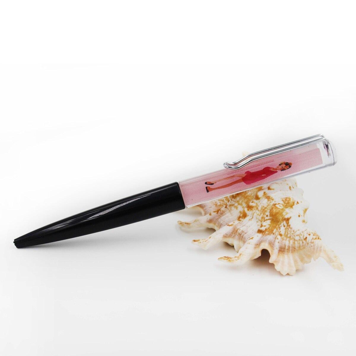 Women Undress Liquid Pens Take Off Clothes Floater Liquid Ballpoint Pens 2D Floater Floating Pen Fancy Ballpoint Pens