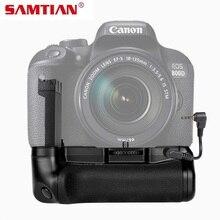 SAMTIAN Вертикальная Батарейная ручка для Canon EOS 800D Rebel T7i 77D Kiss X9i аккумулятор dslr ручка работает с LP-E17 батареей