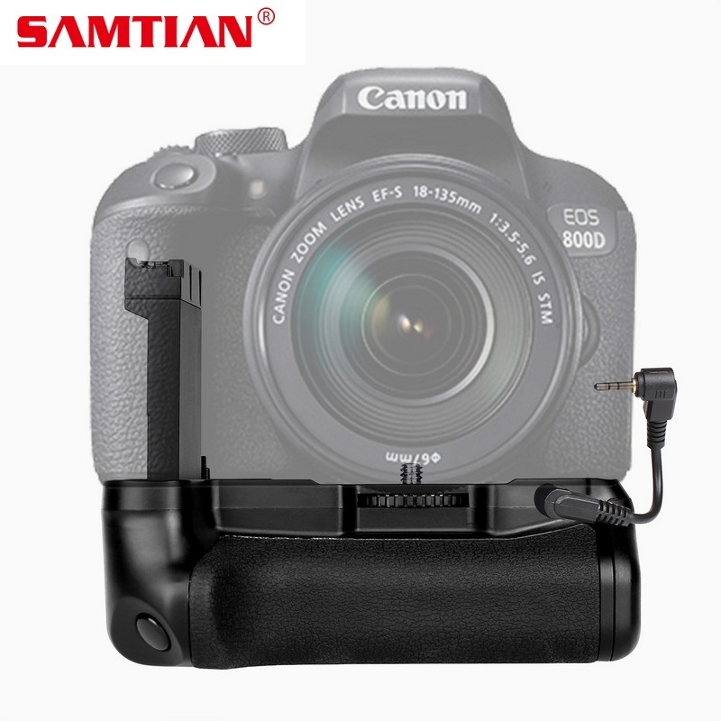 SAMTIAN Vertical Battery <font><b>Grip</b></font> For Canon EOS 800D Rebel T7i <font><b>77D</b></font> Kiss X9i DSLR Battery Handle Work With LP-E17 Battery image