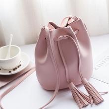 Small Tassel Women Messenger Bags High Quality Soft PU Leather Crossbody Bag Girls Shoulder Bag Black Handbags Bolsa Feminina girls tassel flat pu crossbody bag
