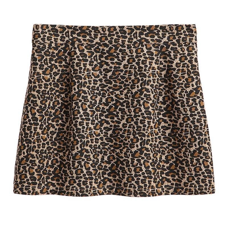 e554abc0752 Плюс Размеры Для женщин юбка весна новый 100 кг жира мм большие размеры Для  женщин Высокая талия leopard Платье с принтом из слов была тонкая юбка